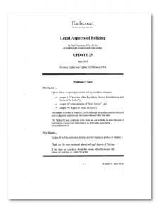 Legal Aspects of Policing Updates